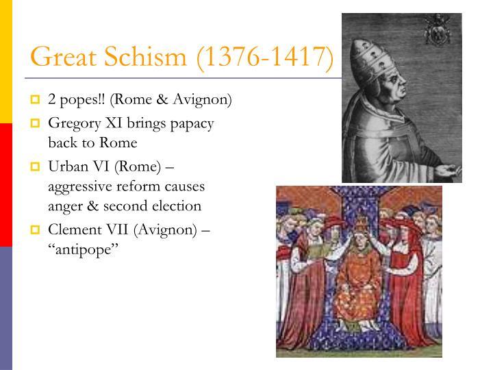 2 popes!! (Rome & Avignon)