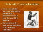 clash with transcendentalism1