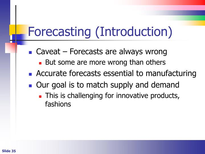 Forecasting (Introduction)