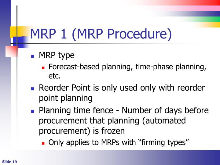 MRP 1 (MRP Procedure)