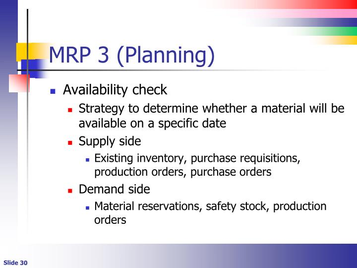 MRP 3 (Planning)