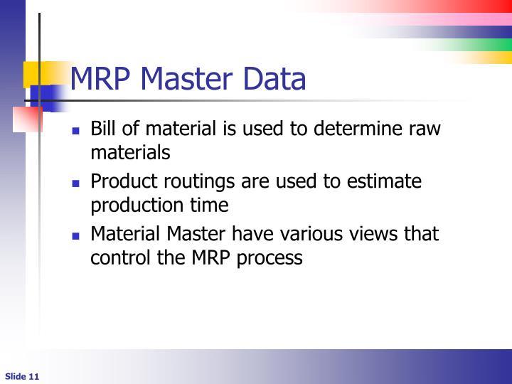 MRP Master Data