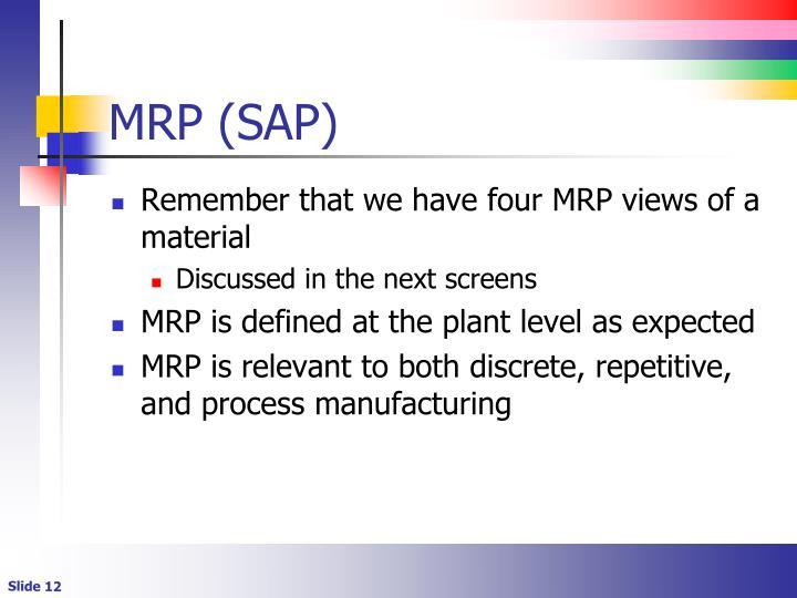 MRP (SAP)