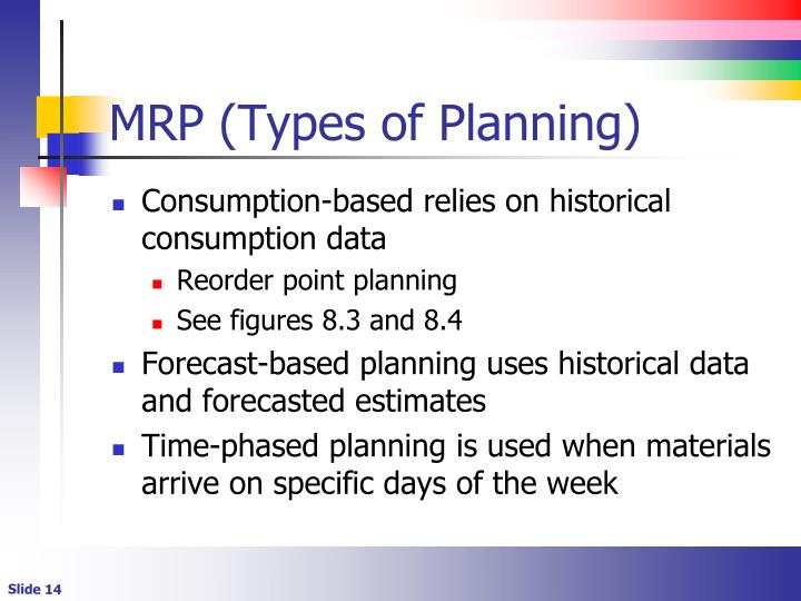 MRP (Types of Planning)