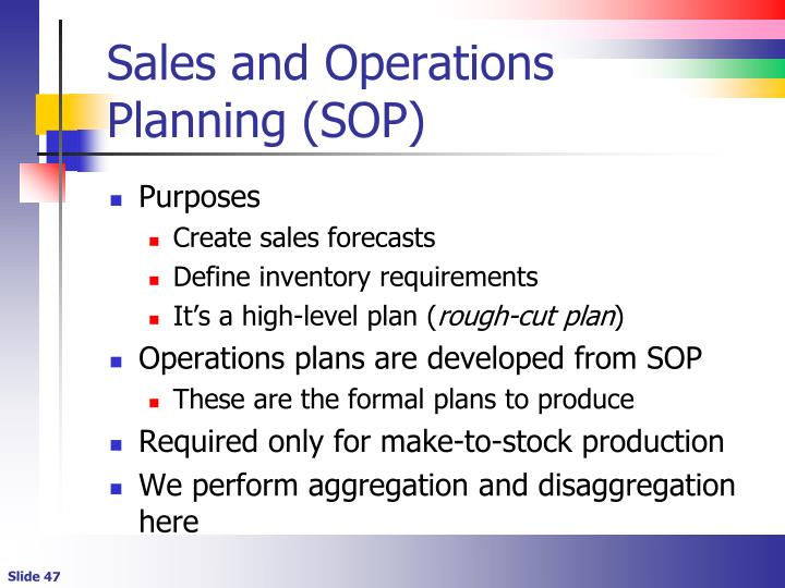 Sales and Operations