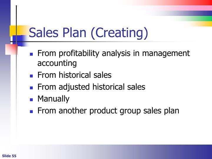 Sales Plan (Creating)