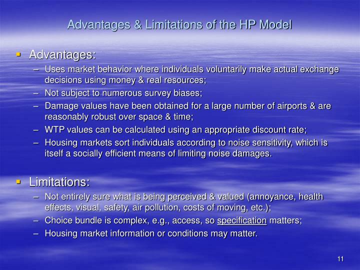 Advantages & Limitations of the HP Model