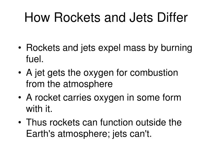 How Rockets and Jets Differ