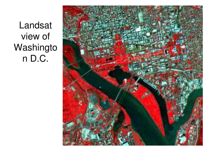 Landsat view of Washington D.C.