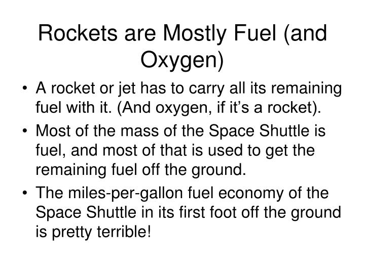 Rockets are Mostly Fuel (and Oxygen)