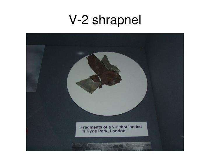 V-2 shrapnel