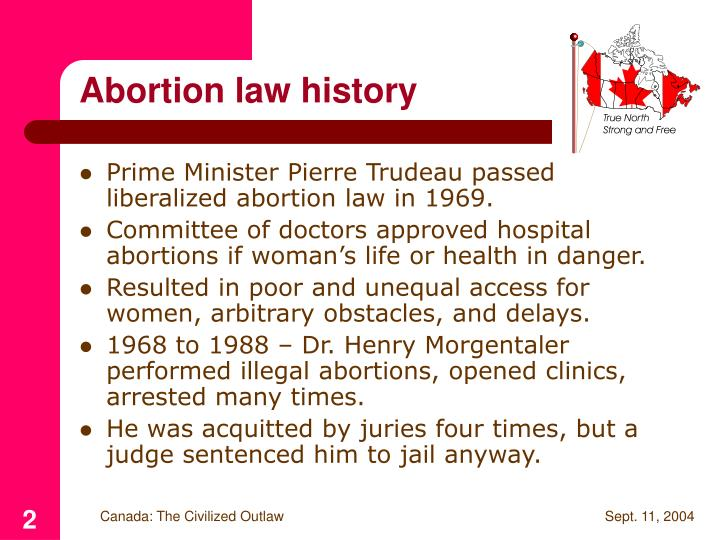 Abortion law history