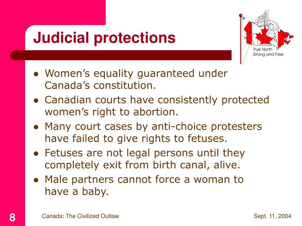 Judicial protections