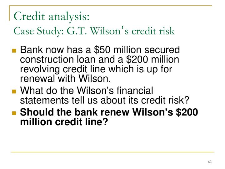 Credit analysis: