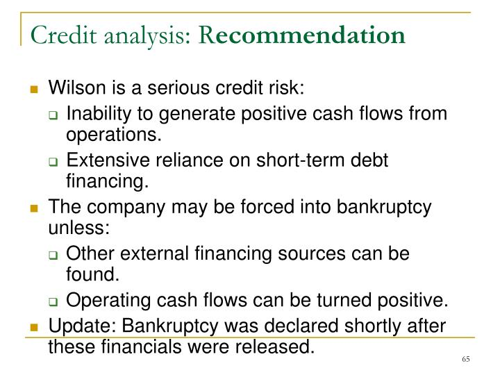 Credit analysis: R