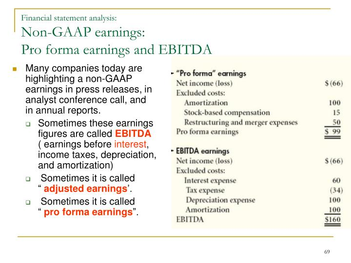 Many companies today are highlighting a non-GAAP earnings in press releases, in analyst conference call, and in annual reports.