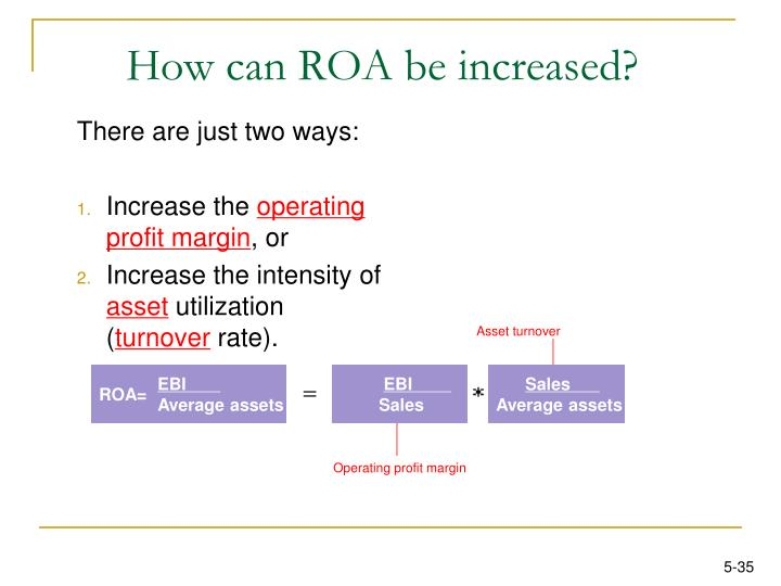How can ROA be increased?