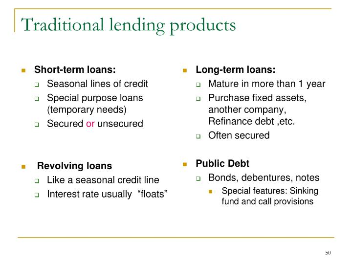 Short-term loans: