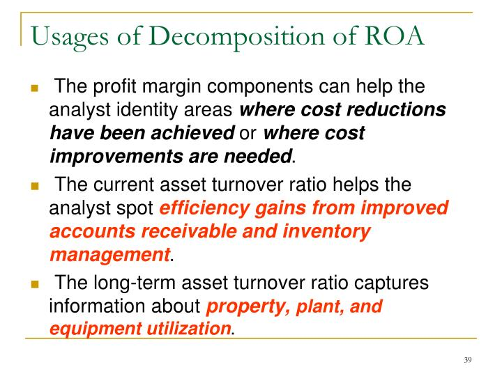 Usages of Decomposition of ROA