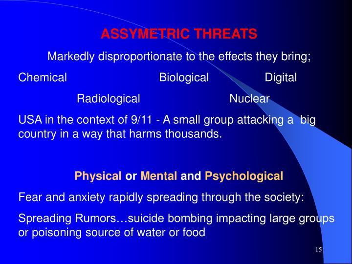 ASSYMETRIC THREATS