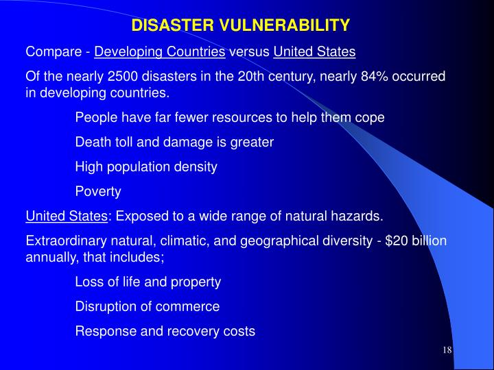 DISASTER VULNERABILITY