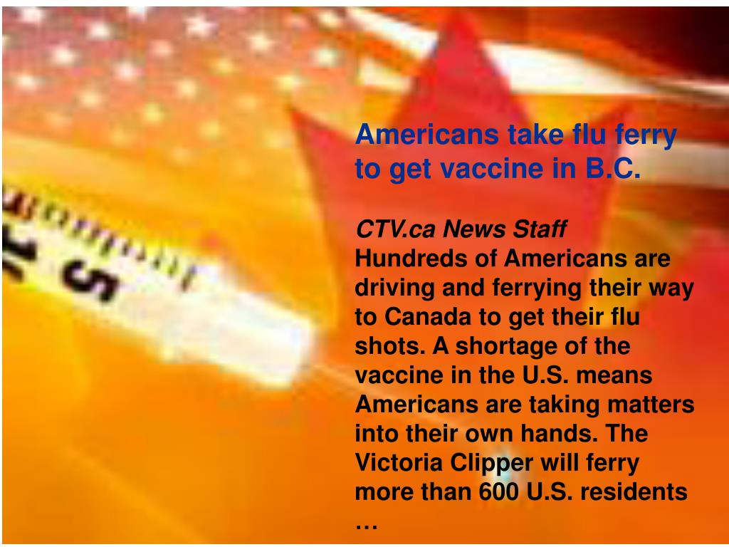 Americans take flu ferry to get vaccine in B.C.