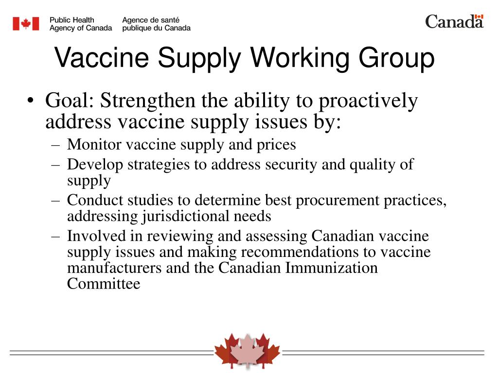Goal: Strengthen the ability to proactively address vaccine supply issues by: