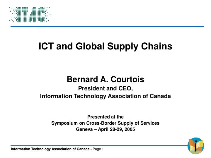 ICT and Global Supply Chains
