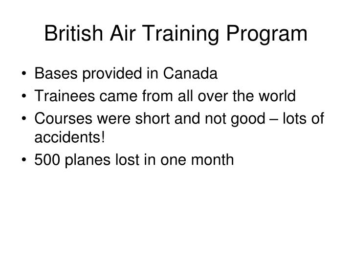 British Air Training Program