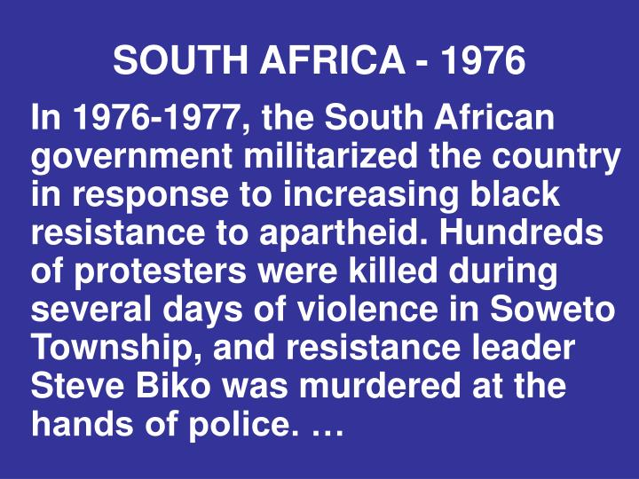 SOUTH AFRICA - 1976