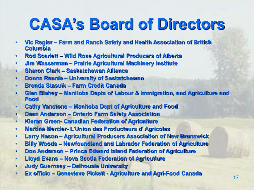 CASA's Board of Directors