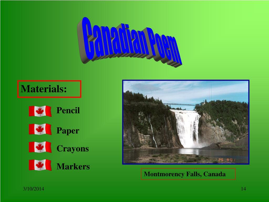 Canadian Poem