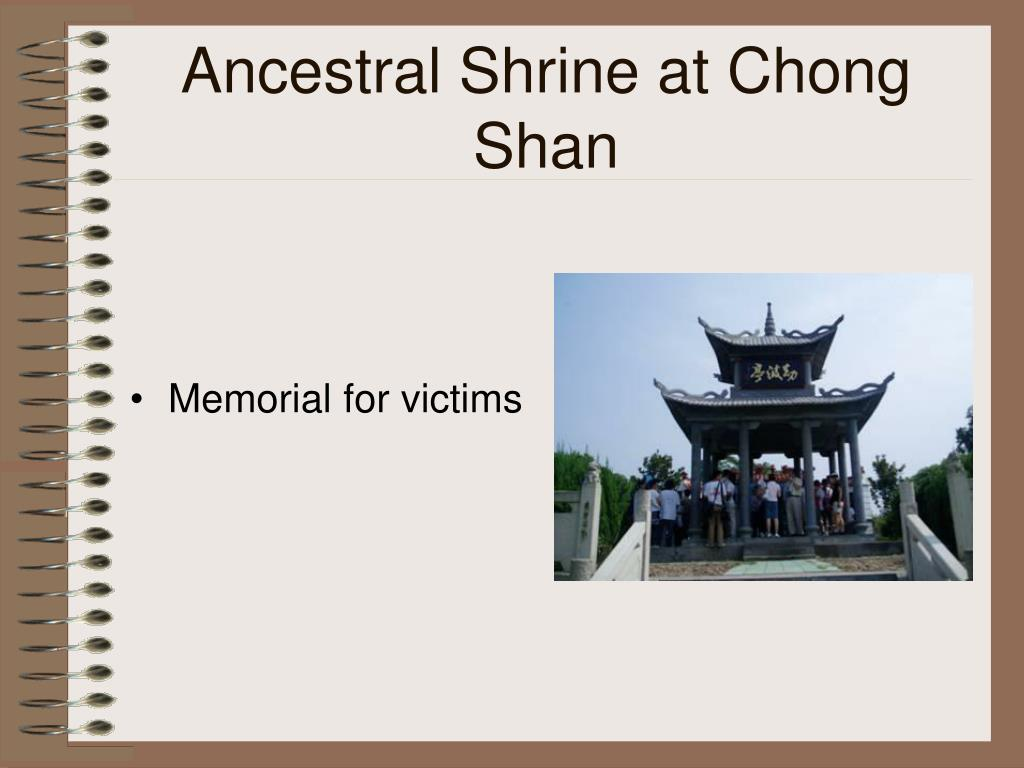 Ancestral Shrine at Chong Shan