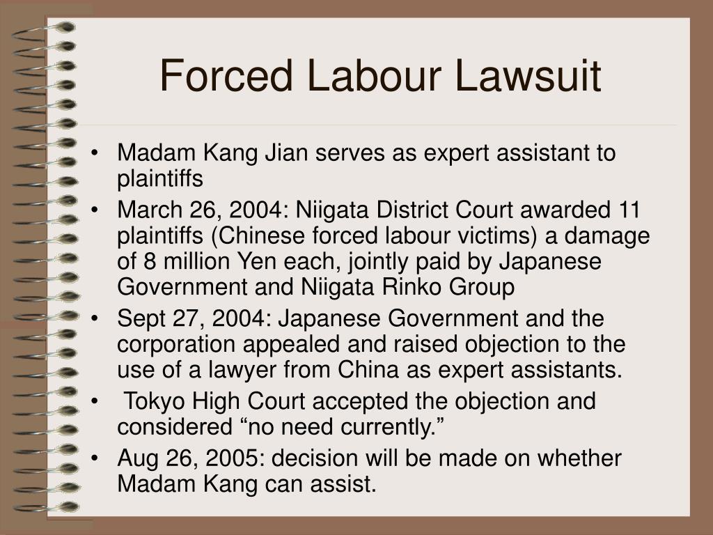 Forced Labour Lawsuit
