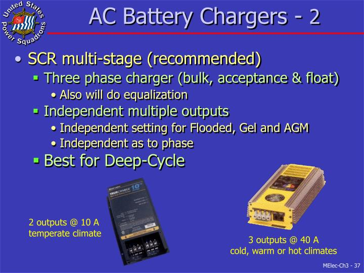 AC Battery Chargers -