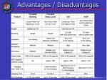 advantages disadvantages