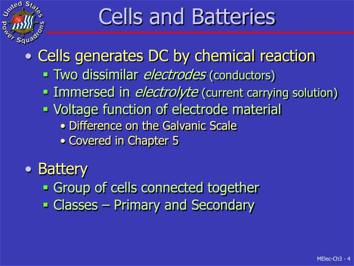 Cells and Batteries