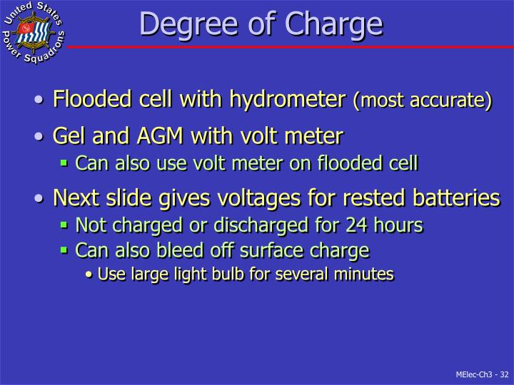 Degree of Charge