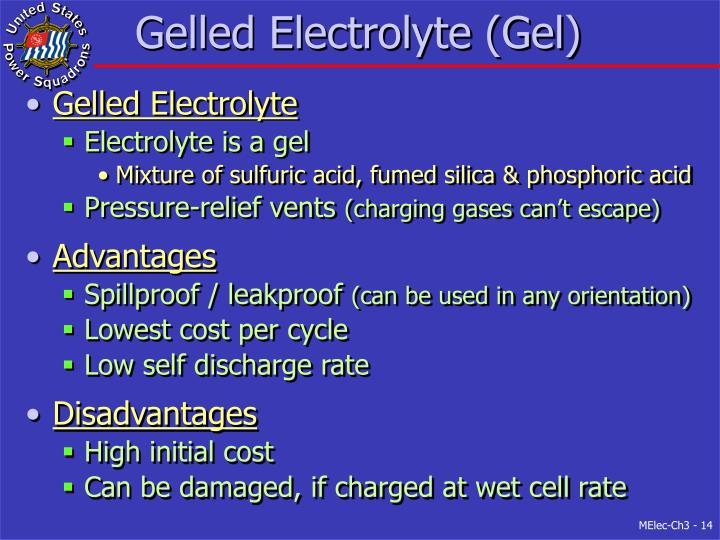 Gelled Electrolyte (Gel)