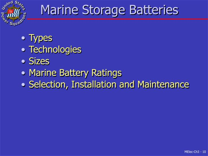 Marine Storage Batteries