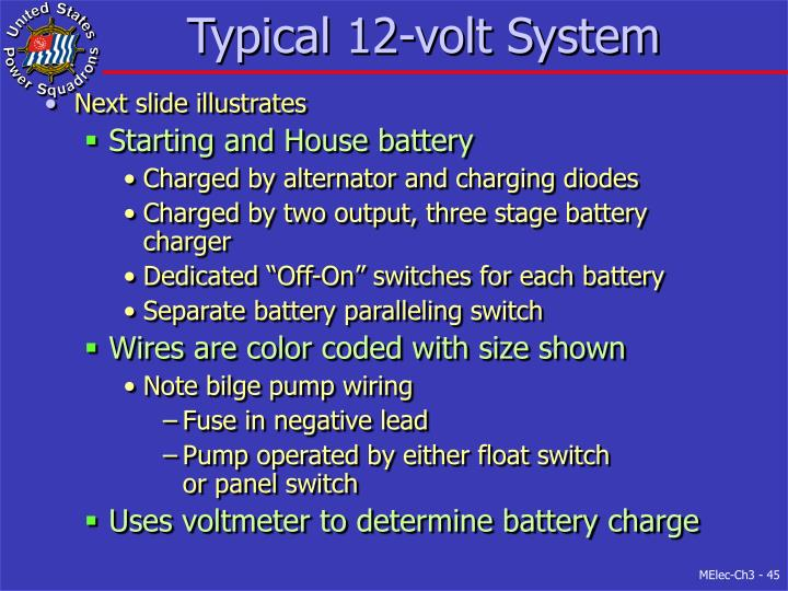 Typical 12-volt System