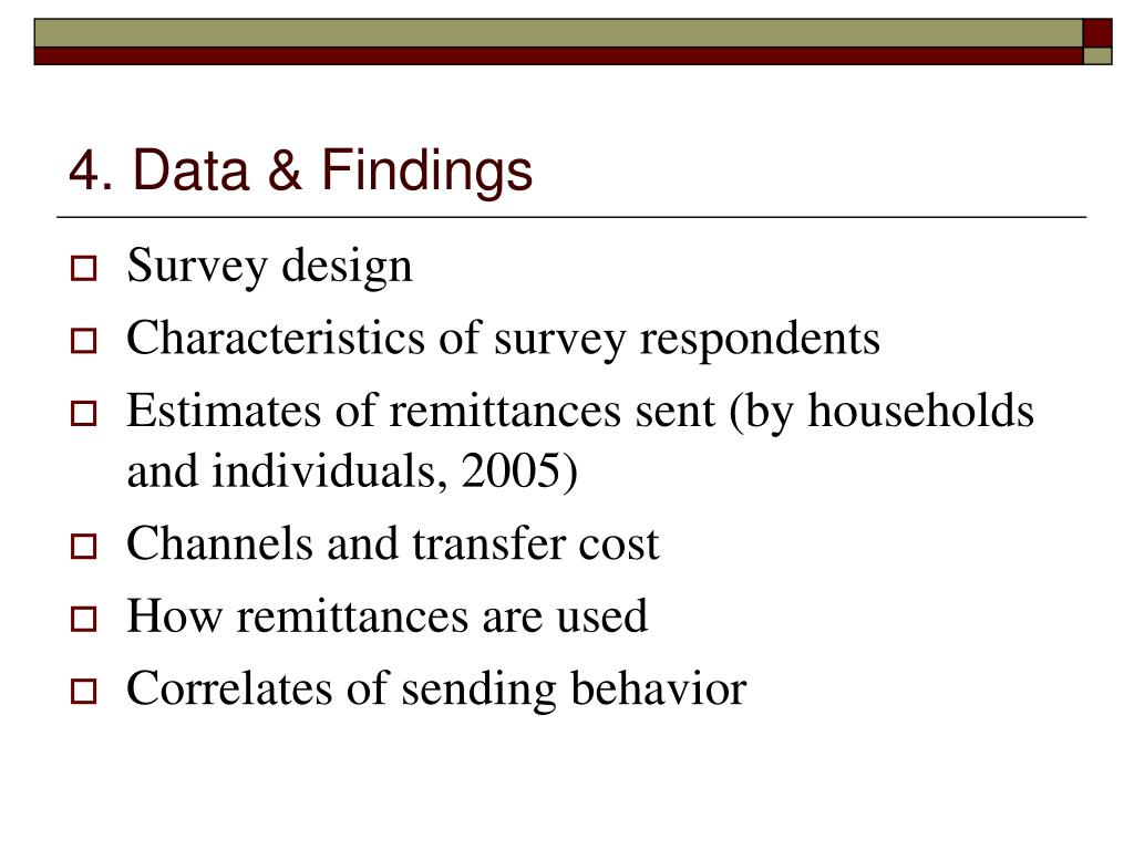 4. Data & Findings