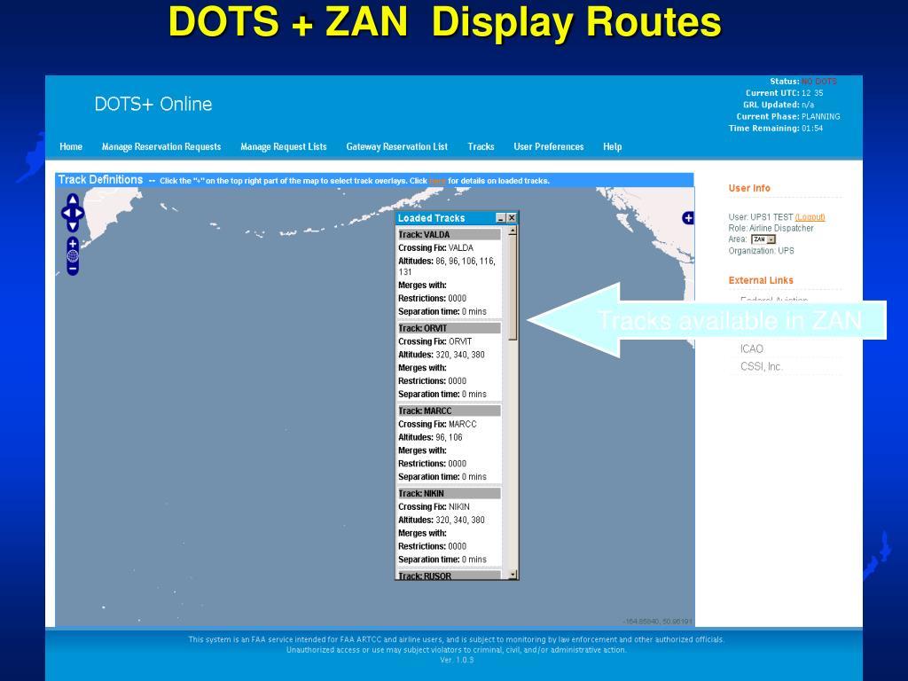 DOTS + ZAN  Display Routes
