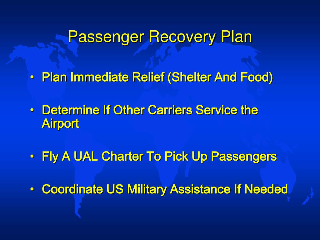 Passenger Recovery Plan