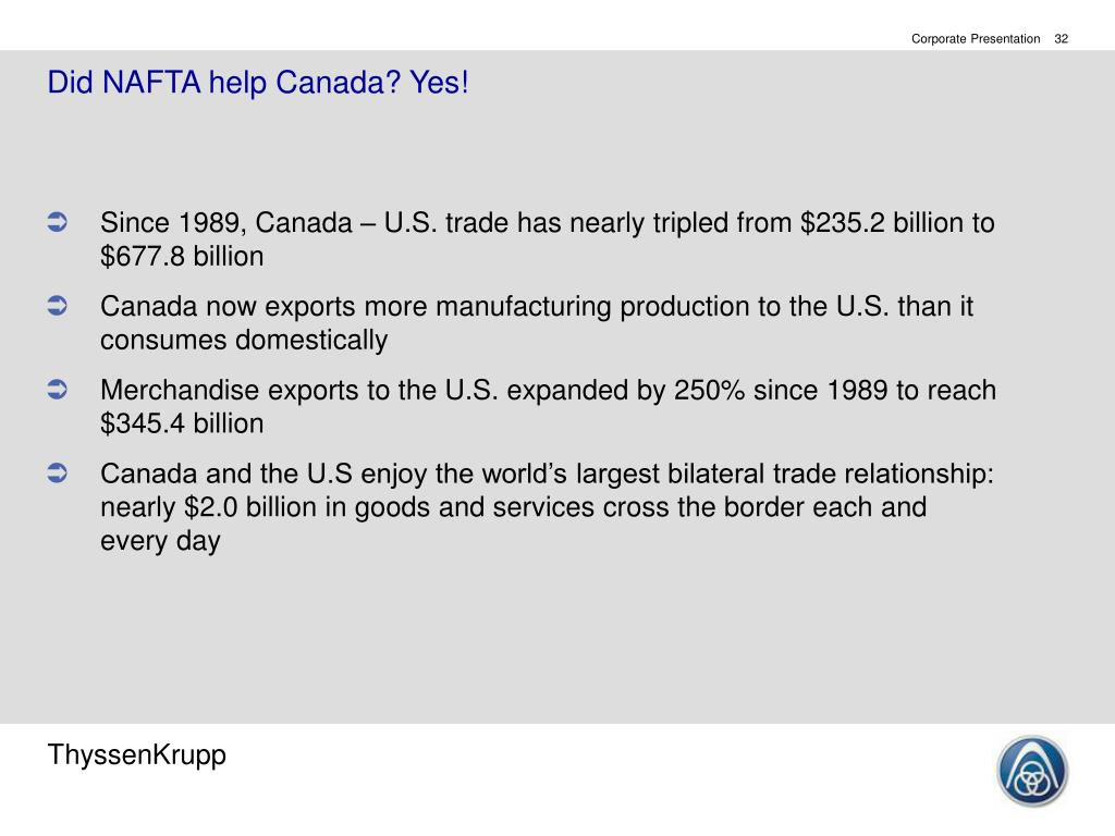 Did NAFTA help Canada? Yes!