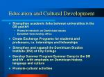 education and cultural development