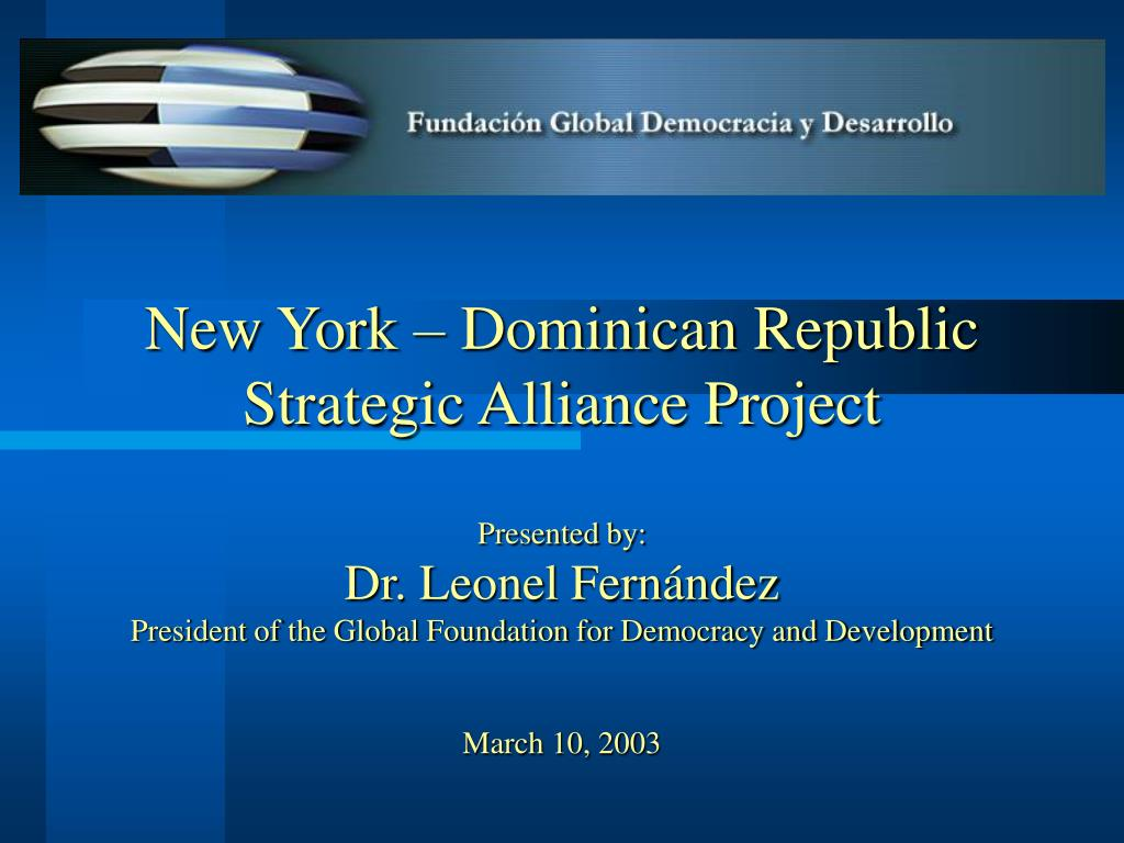 New York – Dominican Republic Strategic Alliance Project