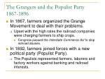 the grangers and the populist party 1867 1896