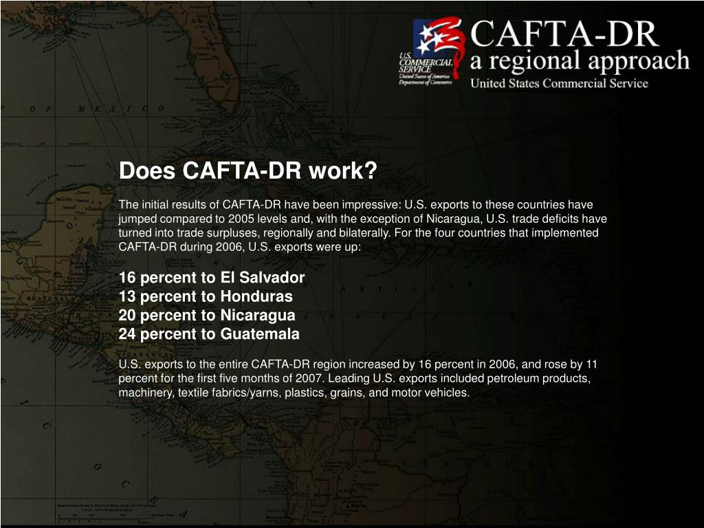 Does CAFTA-DR work?