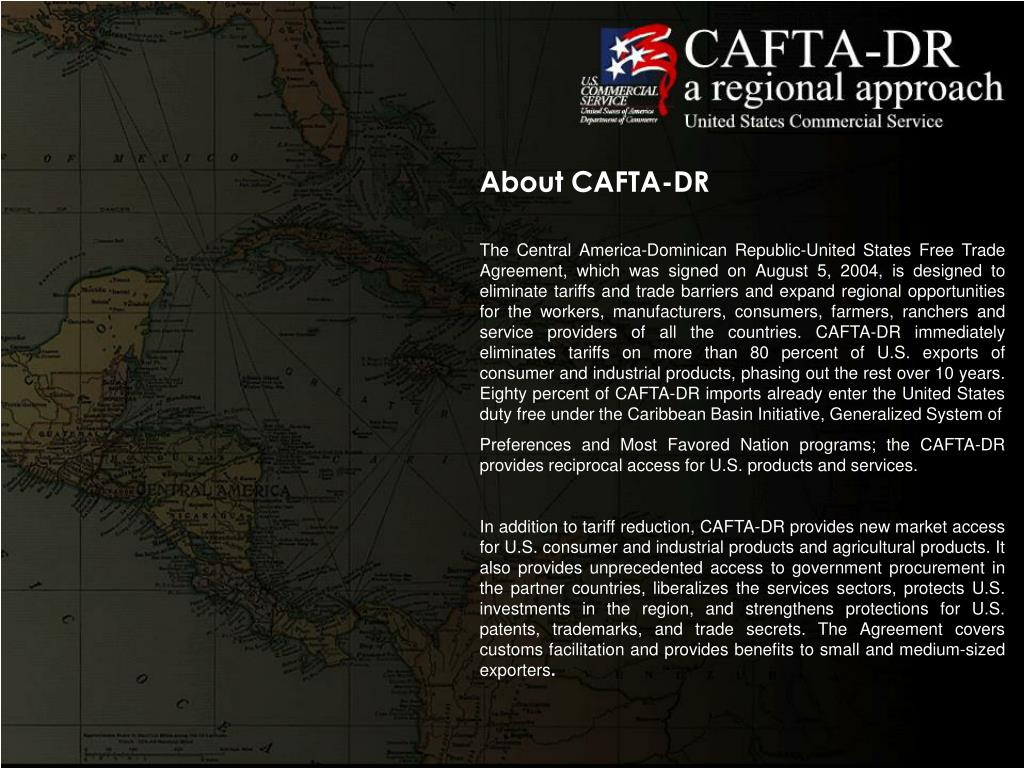 About CAFTA-DR